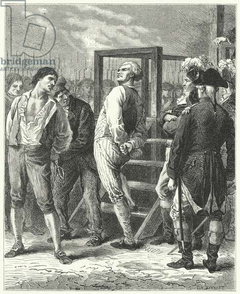 The execution of Georges Danton, 1794 (engraving)