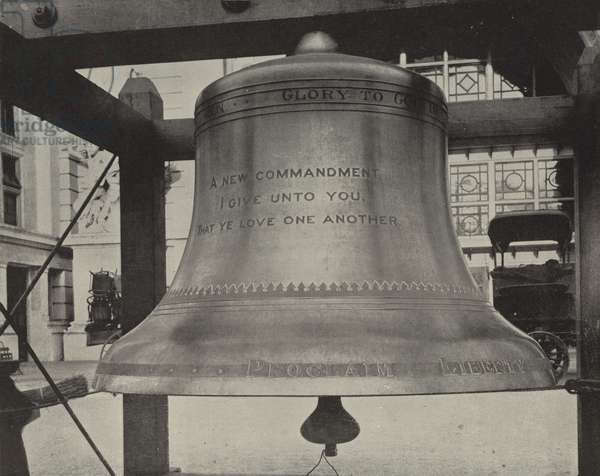 The New Liberty Bell (b/w photo)