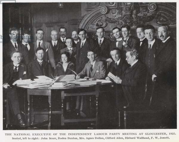 The National Executive of the Independent Labour Party Meeting at Gloucester, 1925 (b/w photo)