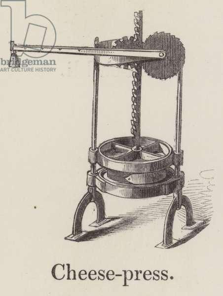 Cheese press (engraving)