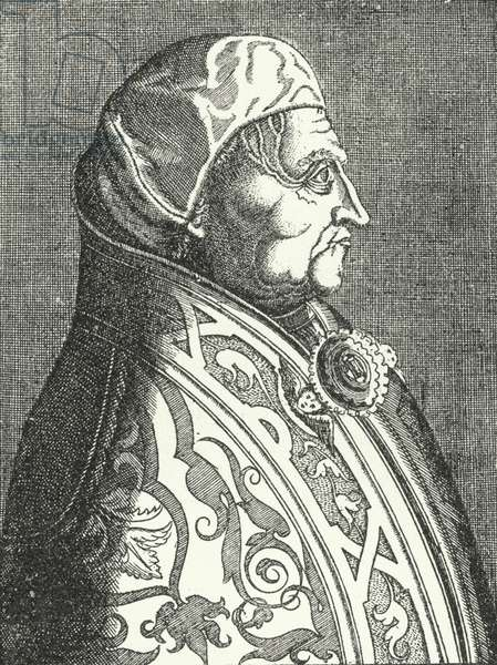 Portrait of Pope Pius II (engraving)