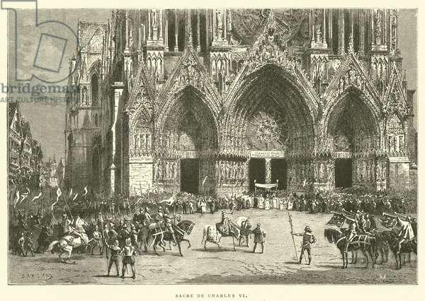 Sacre de Charles VI (engraving)