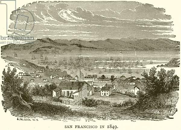 San Francisco in 1849 (engraving)