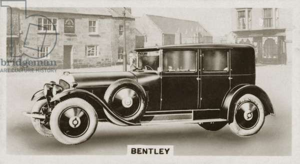 Motor car, Bentley (b/w photo)