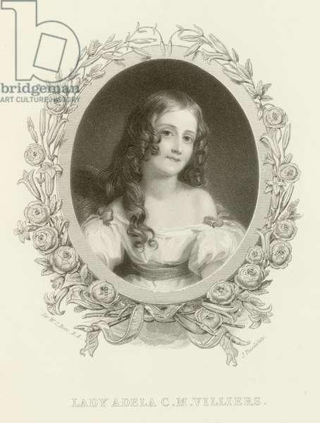 Lady Adela Corisande Maria Child Villiers (engraving)