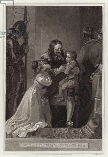 Charles I taking leave of his children (engraving)