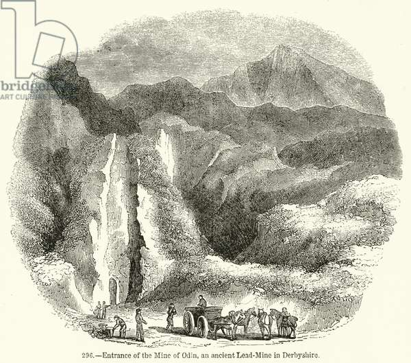 Entrance of the Mine of Odin, an ancient Lead-Mine in Derbyshire (engraving)