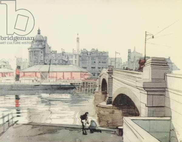 Glasgow: George V Bridge (colour litho)