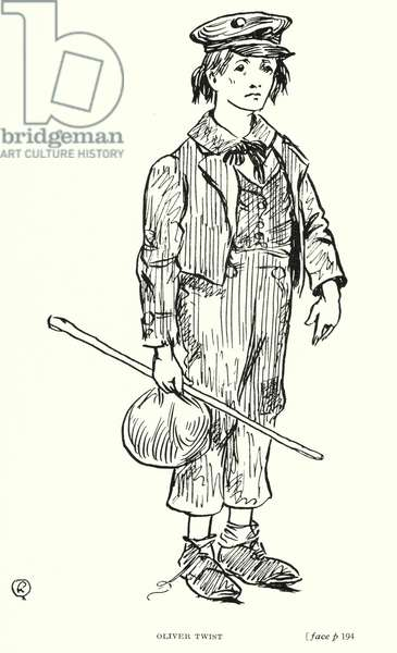 Dickens character: Oliver Twist (litho)