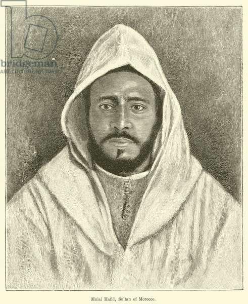 Mulai Hafid, Sultan of Morocco (engraving)