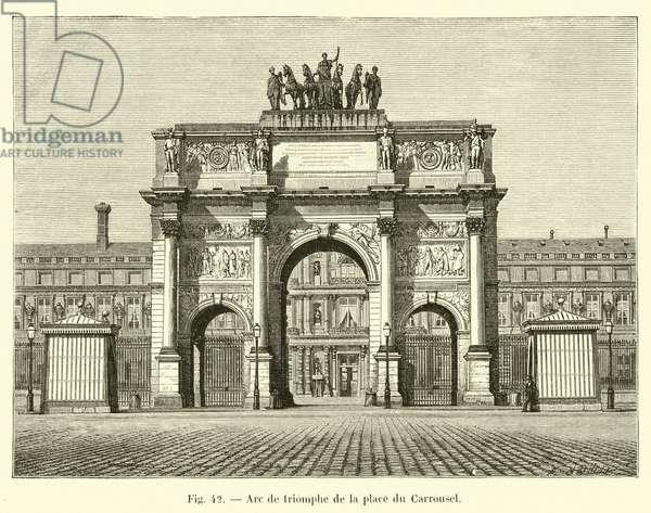 Arc de triomphe de la place du Carrousel (engraving)