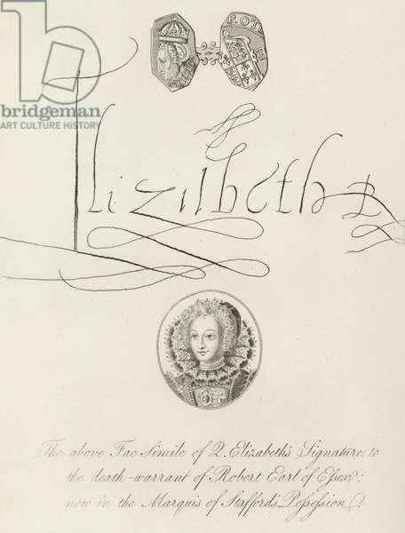 Death Warrant of Earl of Essex (engraving)