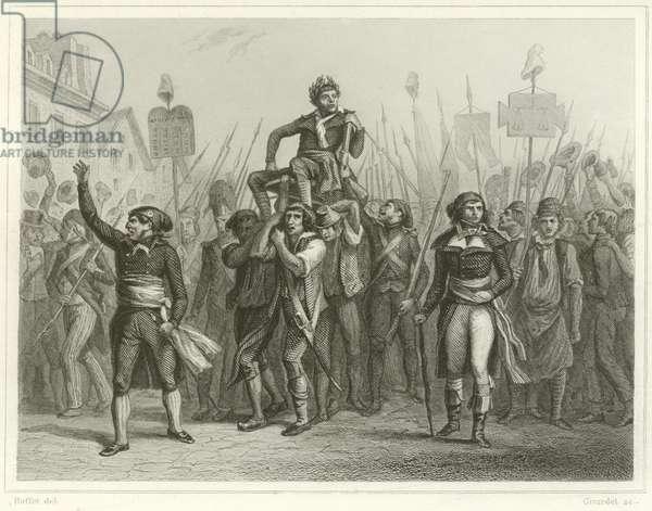 The triumph of Marat (engraving)