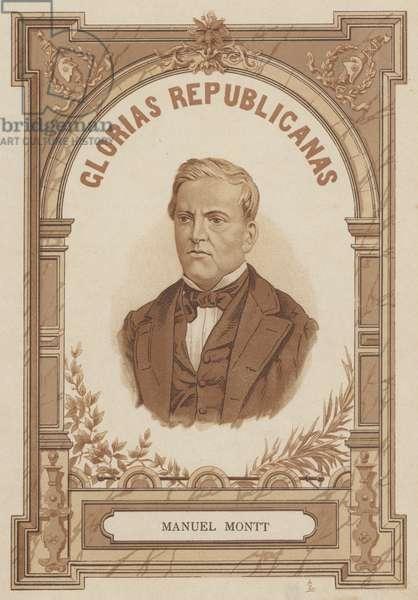 Manuel Montt, Chilean statesman and scholar (litho)