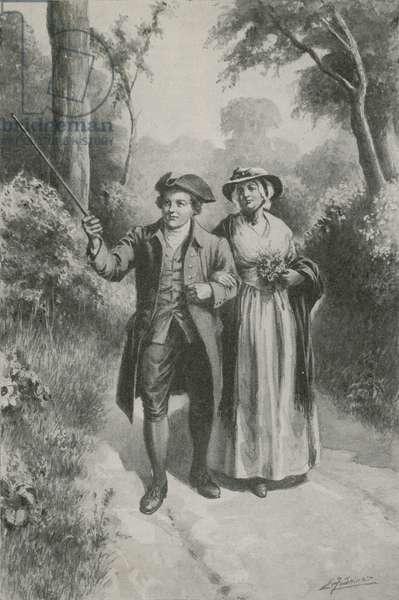 Rare Kate Blake and her William (litho)