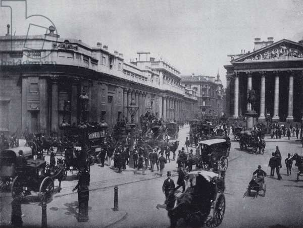 The Bank of England, London, England (b/w photo)