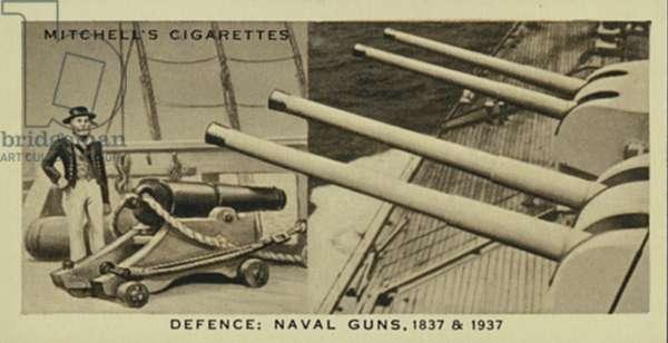 Wonderful Century, 1837-1937: Defence, Naval Guns, A 32-pounder, Modern Naval Guns (litho)