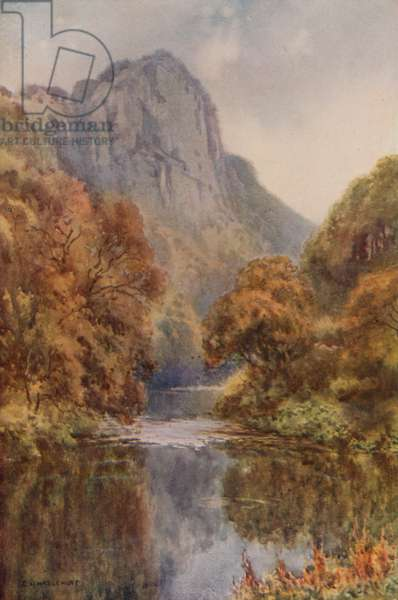 High Tor, Matlock (colour litho)