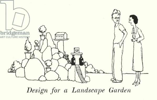 Design for a Landscape Garden (litho)