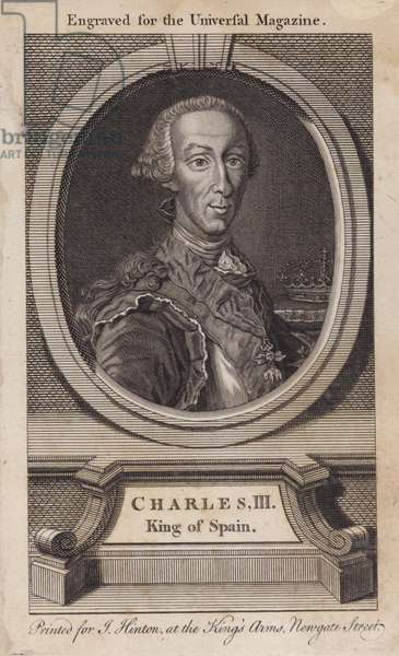 Charles III, King of Spain (engraving)