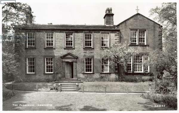 The Parsonage, Haworth (b/w photo)