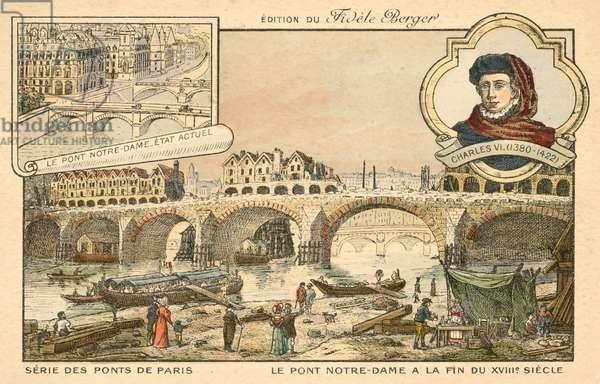 Pont Notre Dame, Paris (chromolitho)