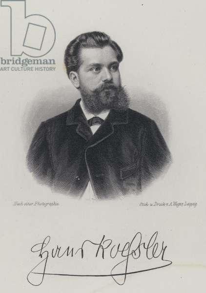 Hans von Koessler, German, composer, conductor and music teacher (engraving)