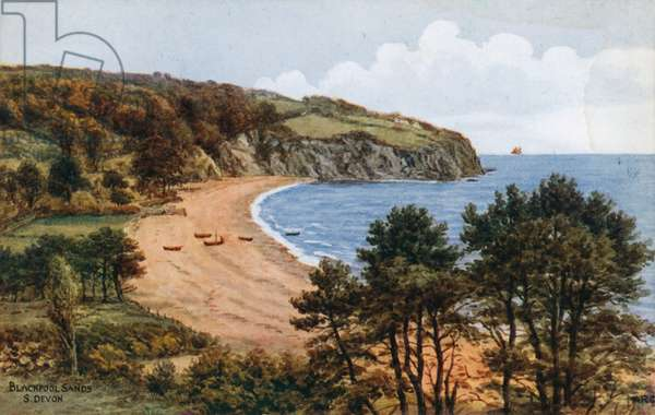 Blackpool Sands, S Devon (colour litho)