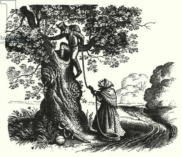 Hans Christian Andersen: The Tinder-Box (litho)