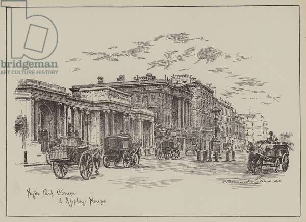 Hyde Park Corner and Apsley House (engraving)