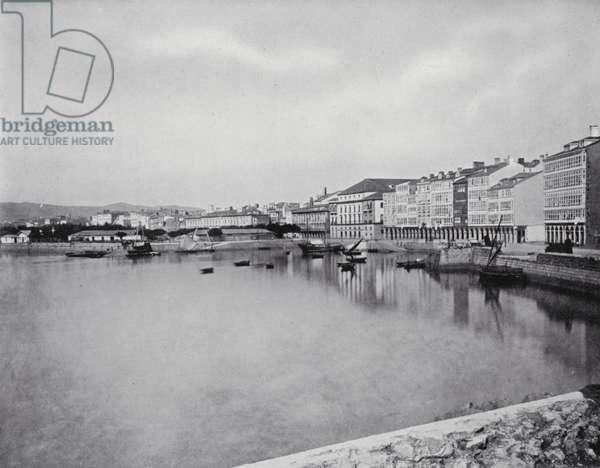 Coruna, General view (b/w photo)