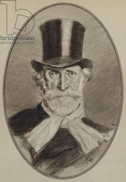 Portraits of Composers: Verdi (litho)