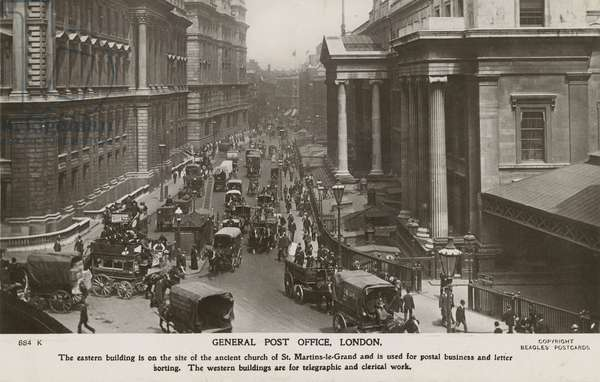 General Post Office, London (b/w photo)