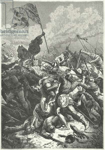 Battle of Bouvines, 1214 (engraving)