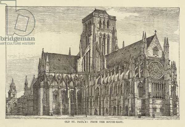 Old St Paul's, from the South-East (engraving)