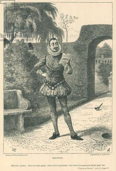 Illustration for Twelfth Night (engraving)