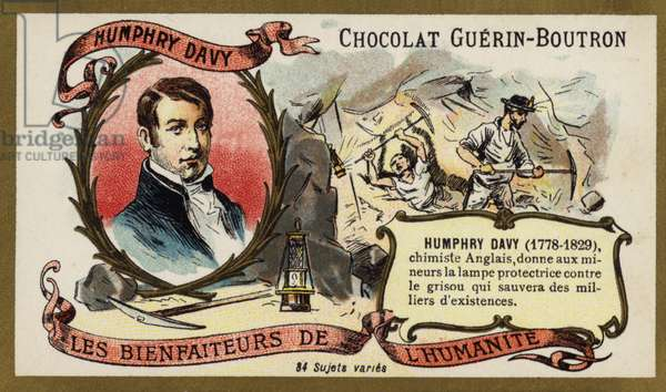 Humphry Davy, English chemist (chromolitho)