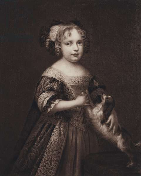 Queen Anne as a child (litho)
