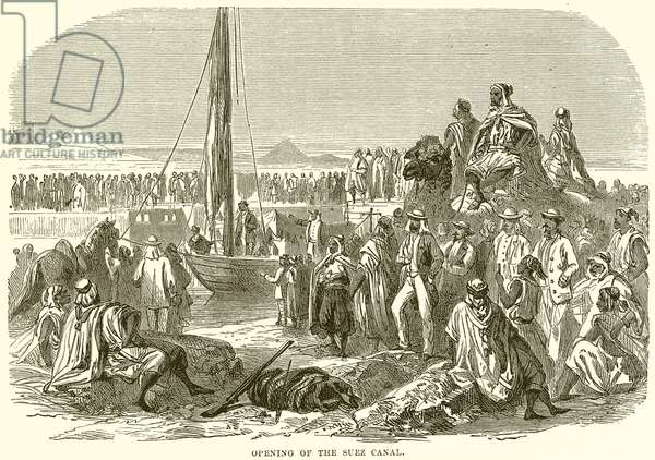 Opening of the Suez Canal (engraving)
