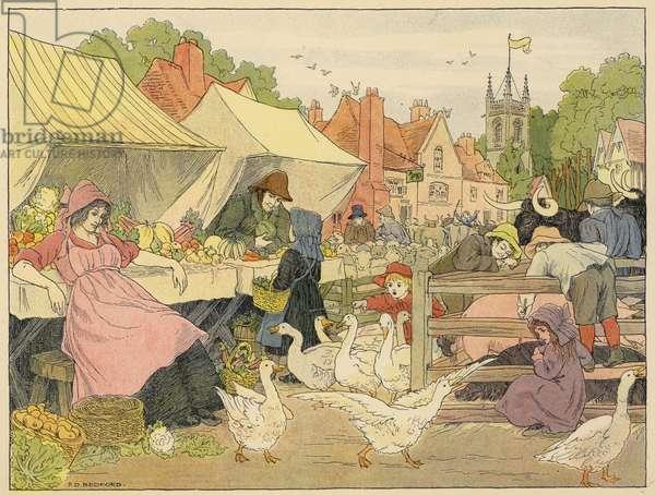 Bedford's Book of Shops: Market (colour litho)