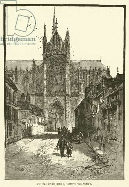 Amiens Cathedral, South Transept (engraving)
