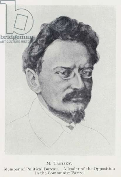 M Trotsky (b/w photo)