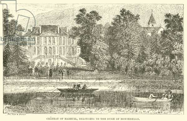 Chateau of Mareuil, Belonging to the Duke of Montebello (engraving)