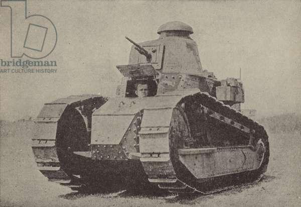 The Renault tank (b/w photo)