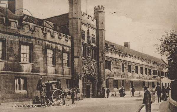 Christs College, Cambridge (b/w photo)