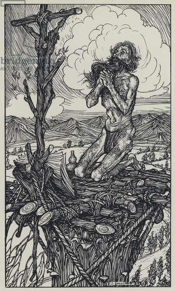 Tennyson, Illustration for A Dream of Fair Women and Other Poems (engraving)
