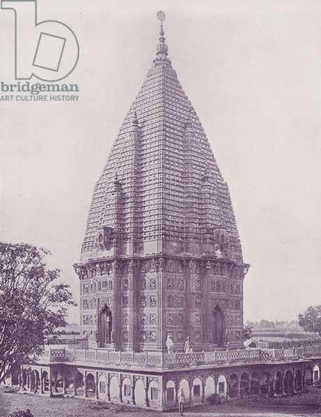 Sumrer Temple, Ramnugger, Benares (b/w photo)