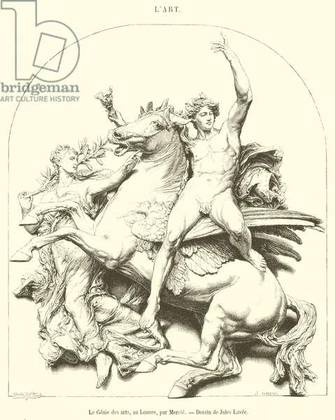 Le Genie des arts, au Louvre (engraving)