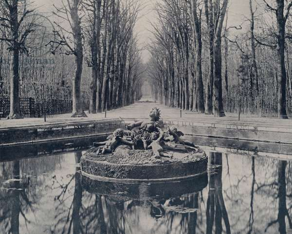 Basin of Ceres, Versailles Park (b/w photo)