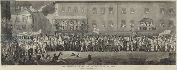 Procession of Lady Godiva at Coventry Fair (engraving)
